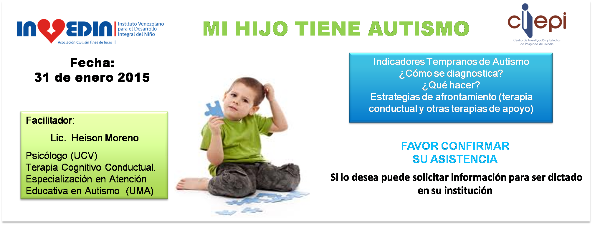 Taller: Mi hijo tiene autismo
