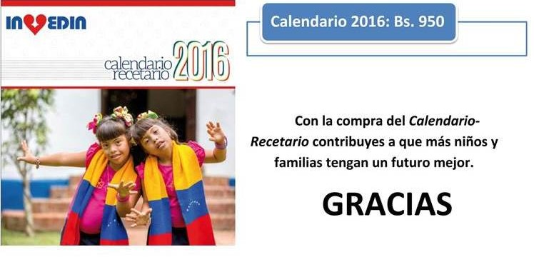 Calendario Recetario 2016