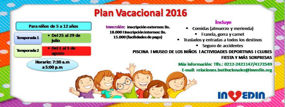 Plan Vacacional 2016