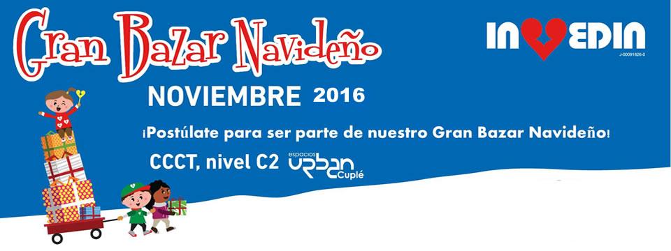 ¡Participa en el Gran Bazar Navideño Invedin 2016!
