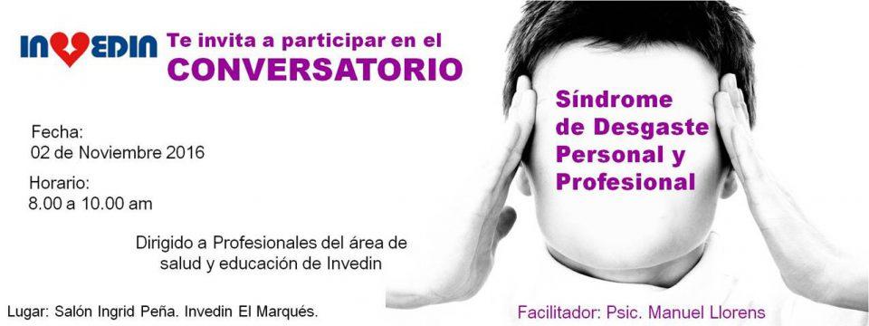 """Conversatorio """"Síndrome de desgaste personal y profesional"""""""