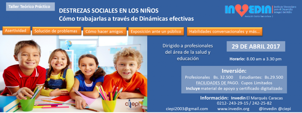 Taller teórico práctico de destrezas sociales en los niños