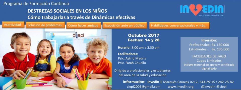 Programa de Formación Continua Destrezas Sociales en los Niños