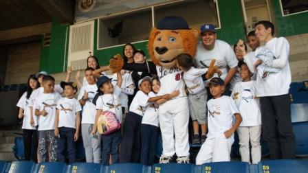 Gracias a los Leones del Caracas por invitarnos a Ilusión al Bate