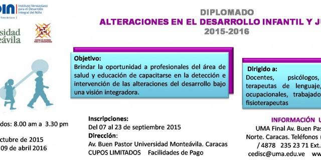 Diplomado de Alteraciones en el Desarrollo Infantil y Juvenil 2015-2016