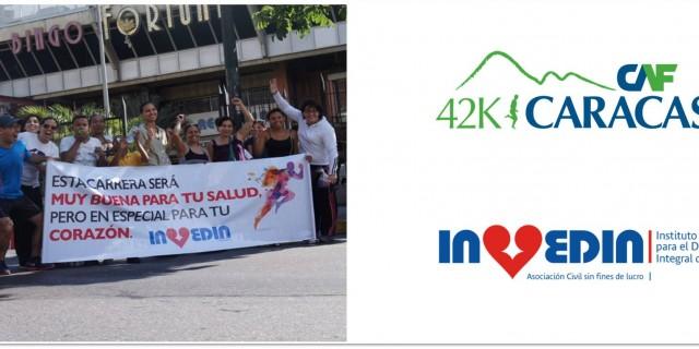 Invedin animó a los corredores del Maratón CAF 2015