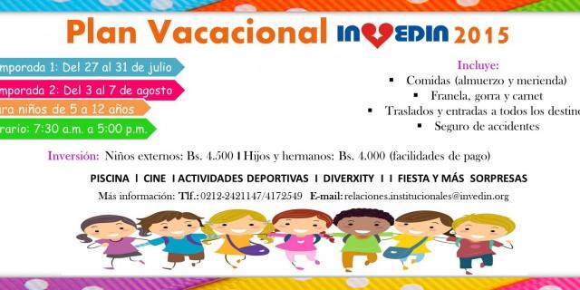 Plan Vacacional INVEDIN 2015