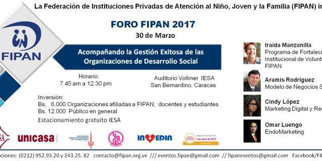 Invedin y Fipan te invitan al Foro acompañando la Gestión Exitosa de las Organizaciones de Desarrollo Social