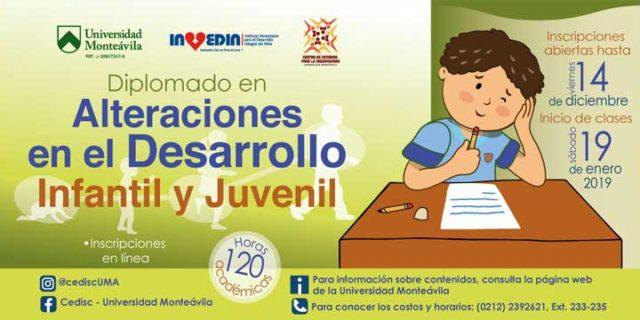 Diplomado en Alteraciones en el Desarrollo Infantil y Juvenil