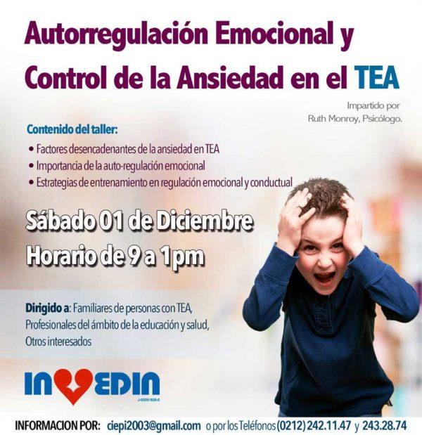 Taller de Autorregulación Emocional y Control de Ansiedad en los TEA